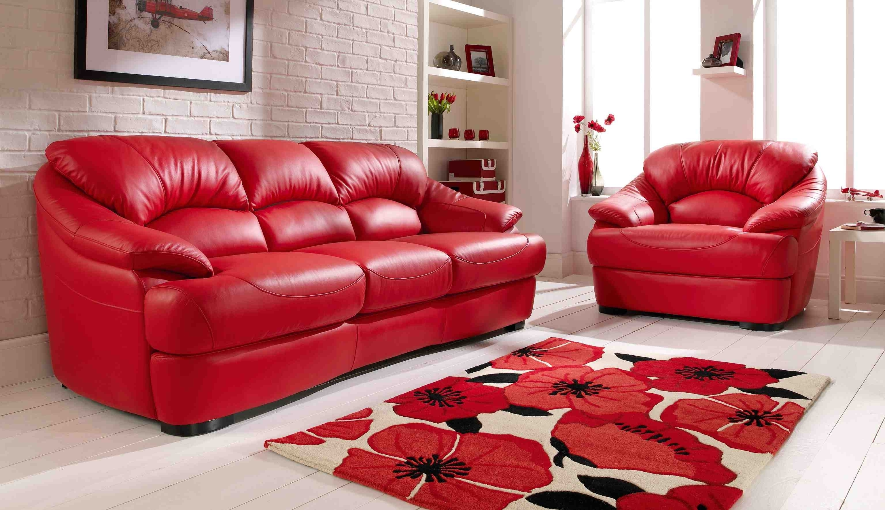 Widely Used Red Leather Sofa Living Room Ideas Home Design Ideas Pertaining To For Red Leather Couches For Living Room (View 20 of 20)