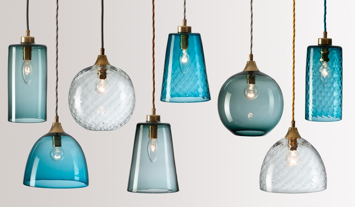 Widely Used Rothschild & Bickers : Handblown Glass Lighting – Flodeau Within Turquoise Color Chandeliers (View 18 of 20)