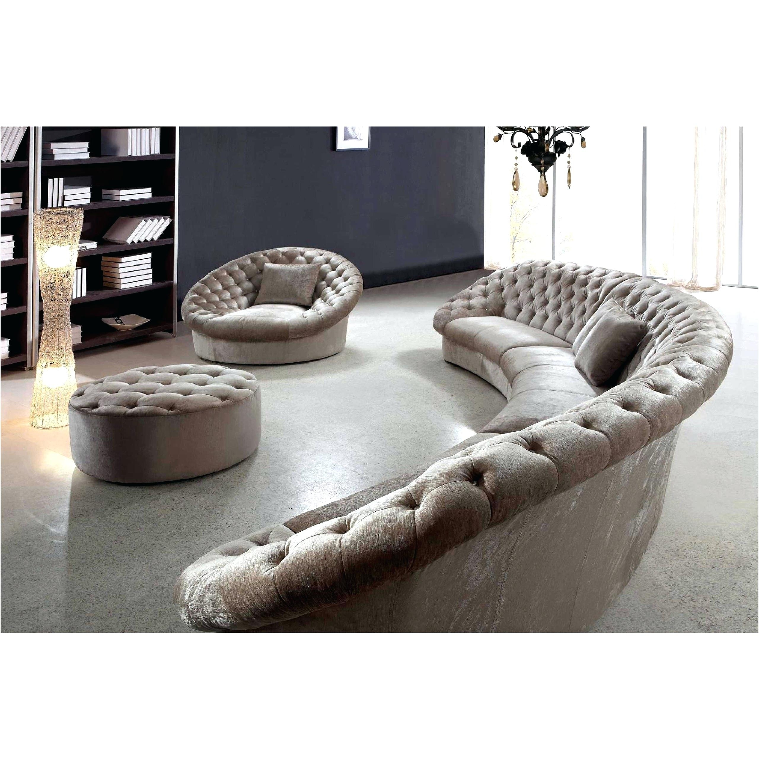 Widely Used Round Sofas Pertaining To Circular Sectional Sofa Modern Round Sofas Semi Circle Rounded (View 15 of 20)