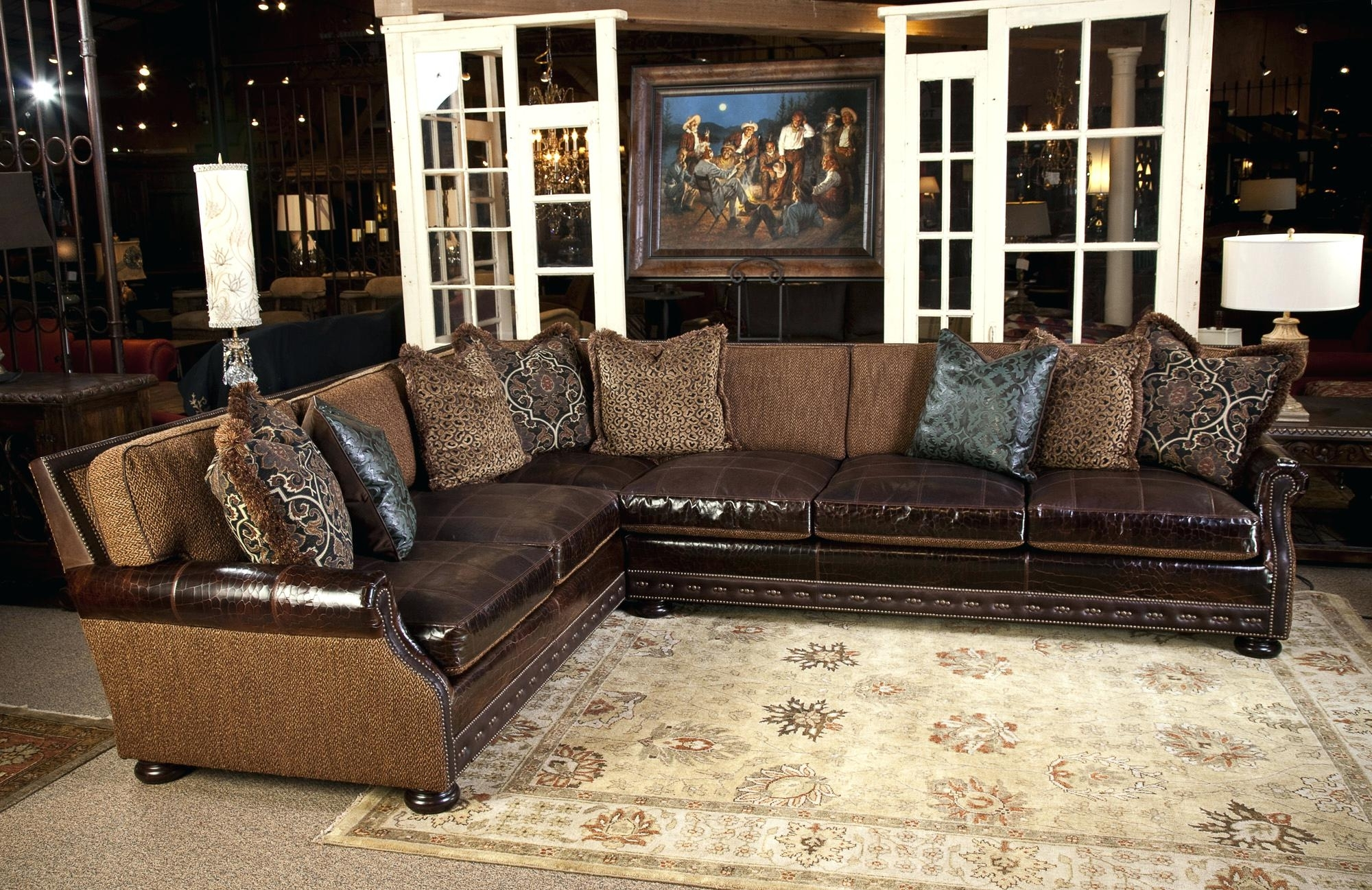 Widely Used Rustic Sectionalfasfa Couches Western Style Leather Full Size Of With Western Style Sectional Sofas (View 20 of 20)