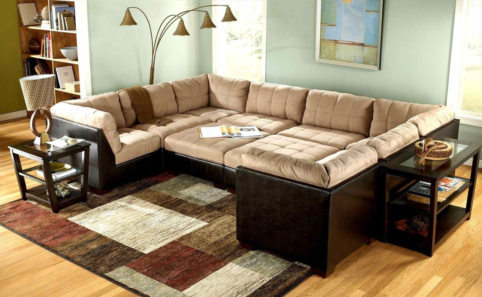 Widely Used Sectional Couches With Large Ottoman Intended For Couch : Ottomans Wrap Around Couch Unusual Design Large Sectional (View 9 of 20)