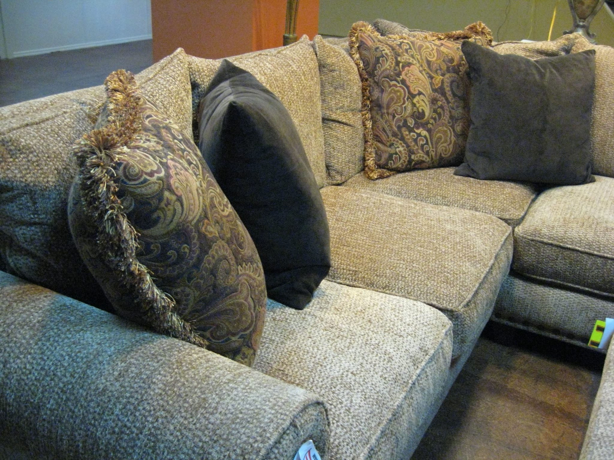 Widely Used Sectional Sofa Design: Down Filled Sectional Sofa Best Linen With Regard To Down Filled Sofas (View 20 of 20)