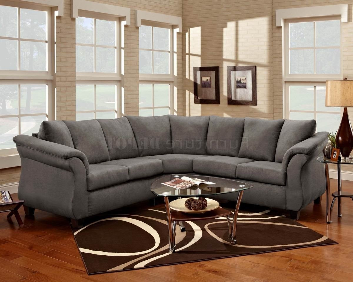 Widely Used Sectional Sofas Art Van Inside Best Grey Microfiber Sectional Sofa 72 With Additional Sofas And (View 5 of 20)