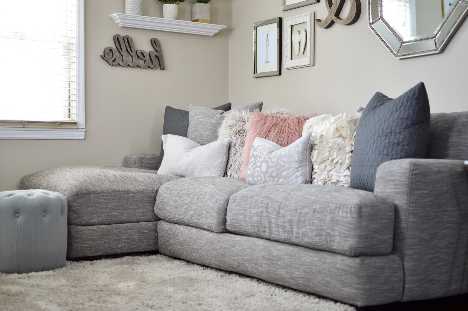 Widely Used Sectional Sofas At Raymour And Flanigan Pertaining To Our Living Room Tour (View 20 of 20)