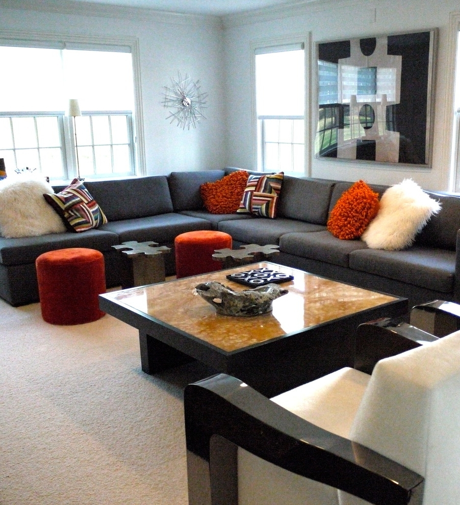 Widely Used Sectional Sofas Decorating Inside Living Rooms With Sectional Sofas Pictures Large Pillows For (View 9 of 20)