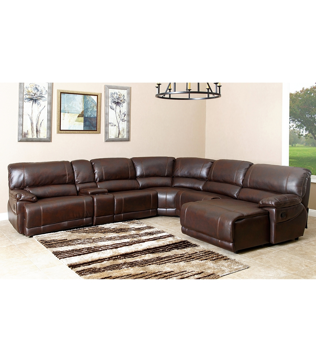Widely Used Sectionals : Cooper Leather Sectional Pertaining To Abbyson Sectional Sofas (View 10 of 20)