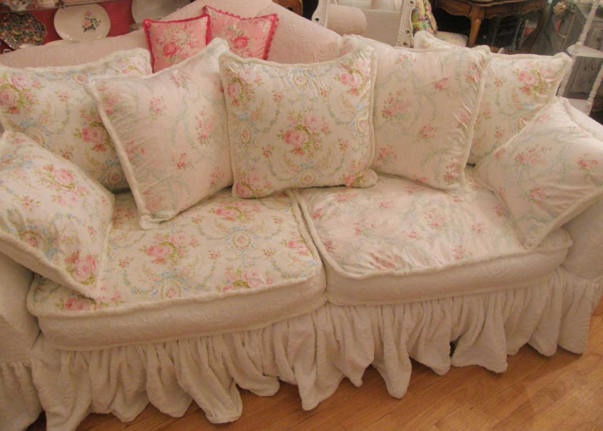 Widely Used Shabby Chic Sofas Intended For Elegant Shabby Chic Sofa 42 In Sofas And Couches Set With Shabby (View 11 of 20)