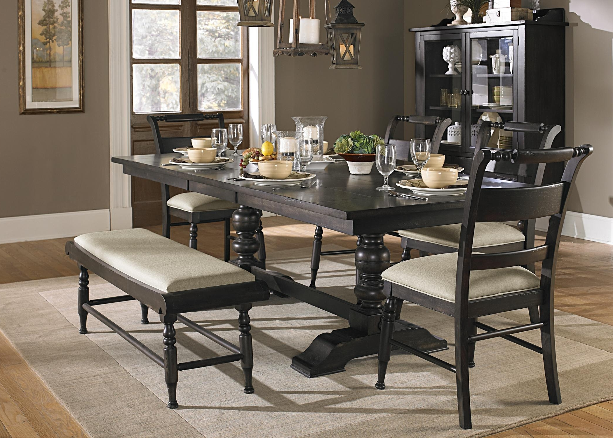Widely Used Sofa Chairs With Dining Table With Regard To Liberty Furniture Whitney 7 Piece Trestle Dining Room Table Set (View 16 of 20)