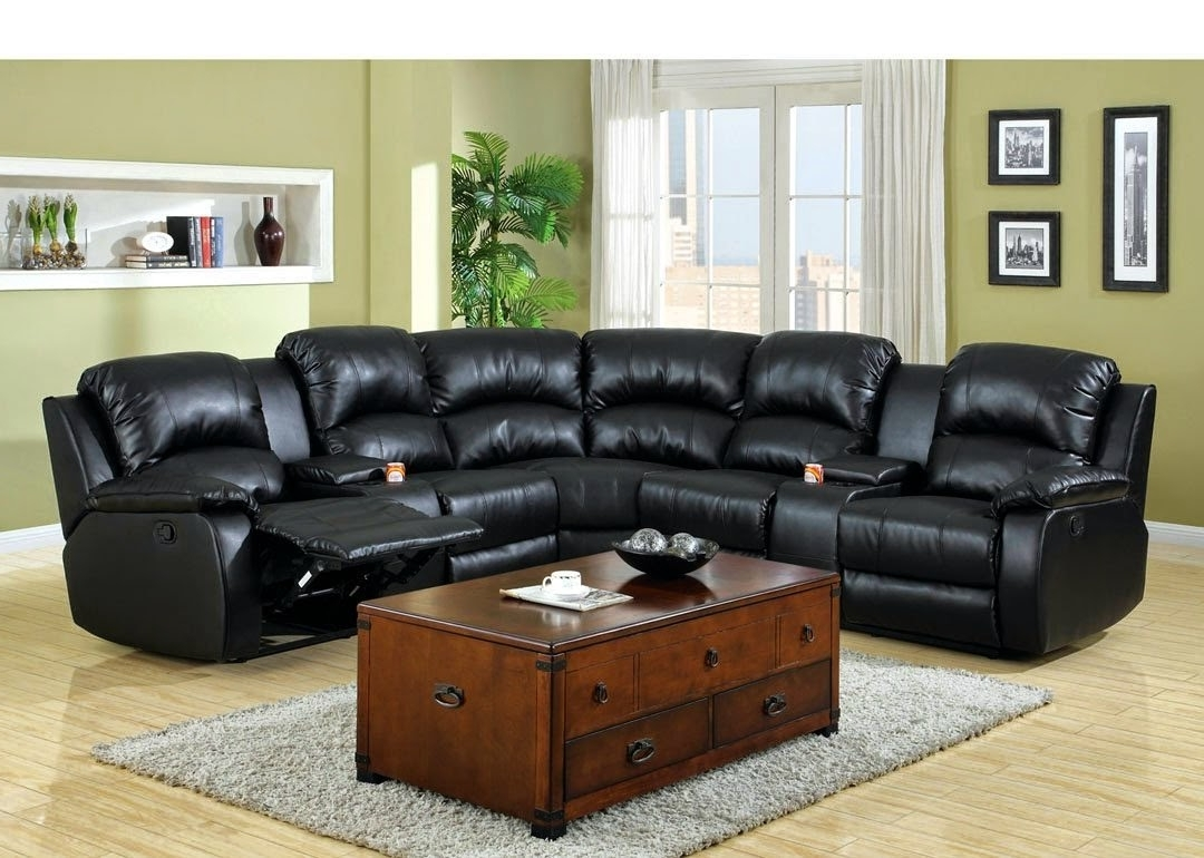 Widely Used Sofas With Consoles Within Cheap Recliner Sofas For Sale: Sectional Reclining Sofas Leather (View 9 of 20)