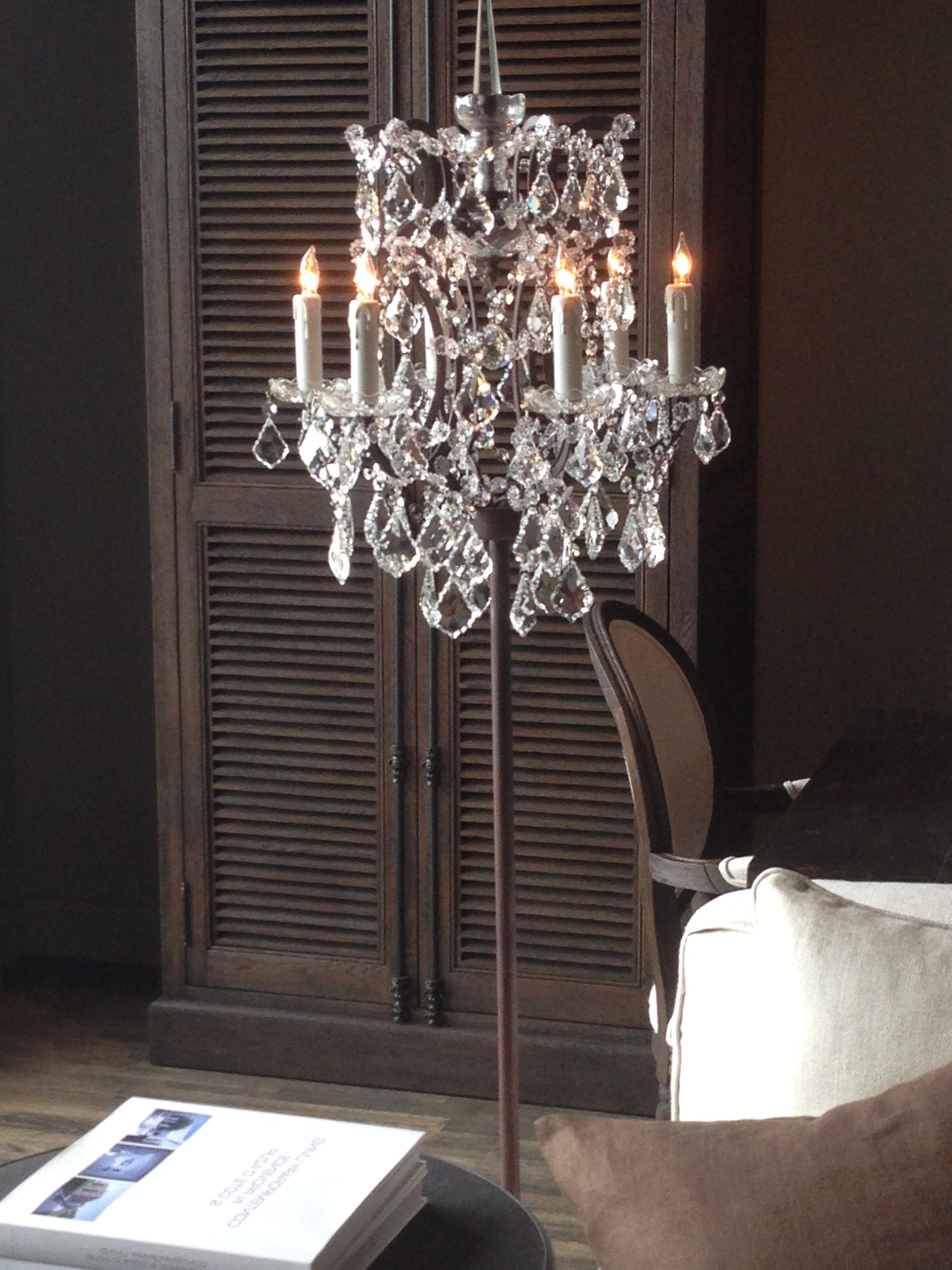 Widely Used Tall Standing Chandelier Lamps Within Chandelier Floor Lamp; I Own This Floor Lamp And It Is So Beautiful (View 9 of 20)