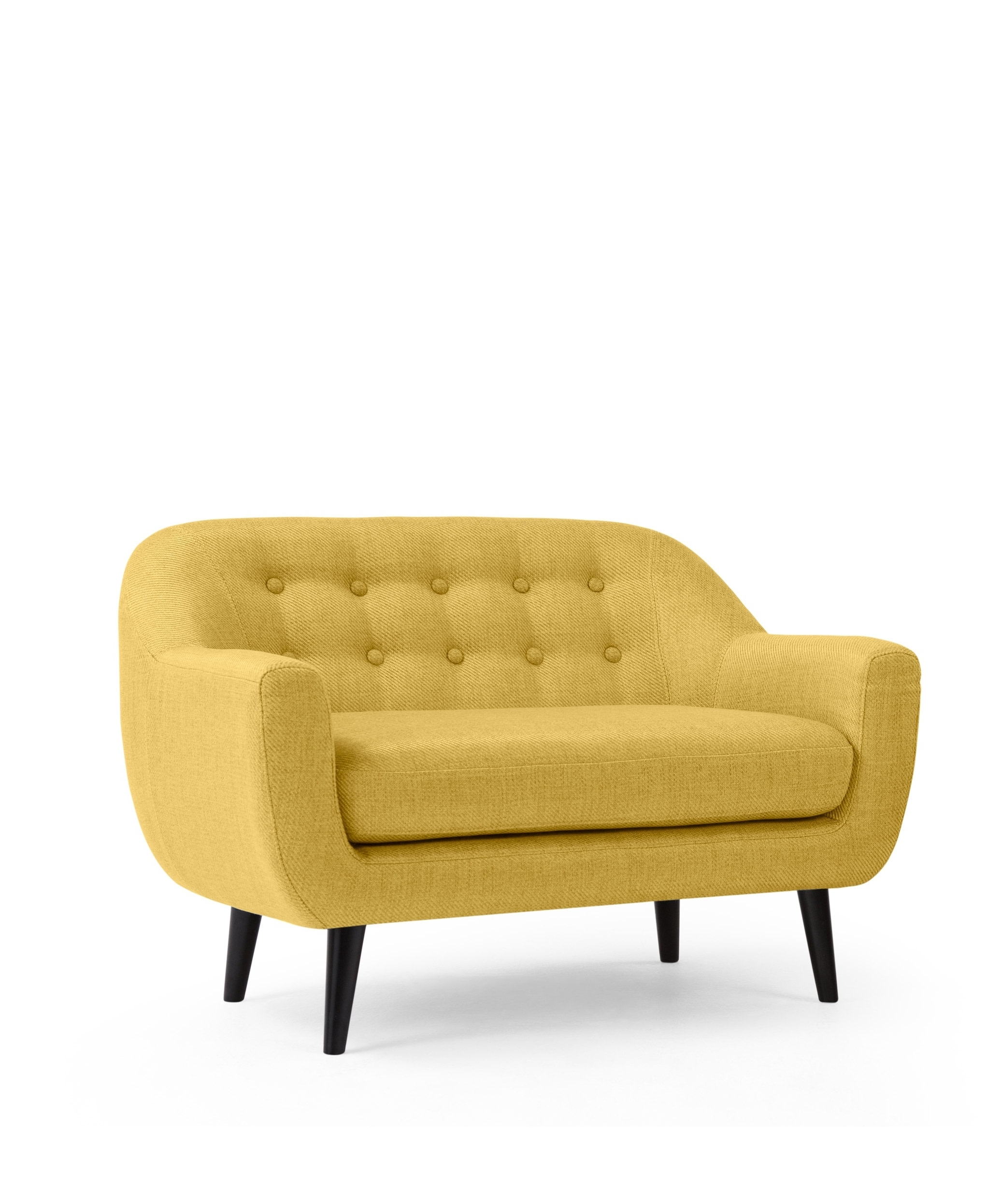 Widely Used The Mini Ritchie 2 Seater Sofa, In Ochre Yellow (View 10 of 20)