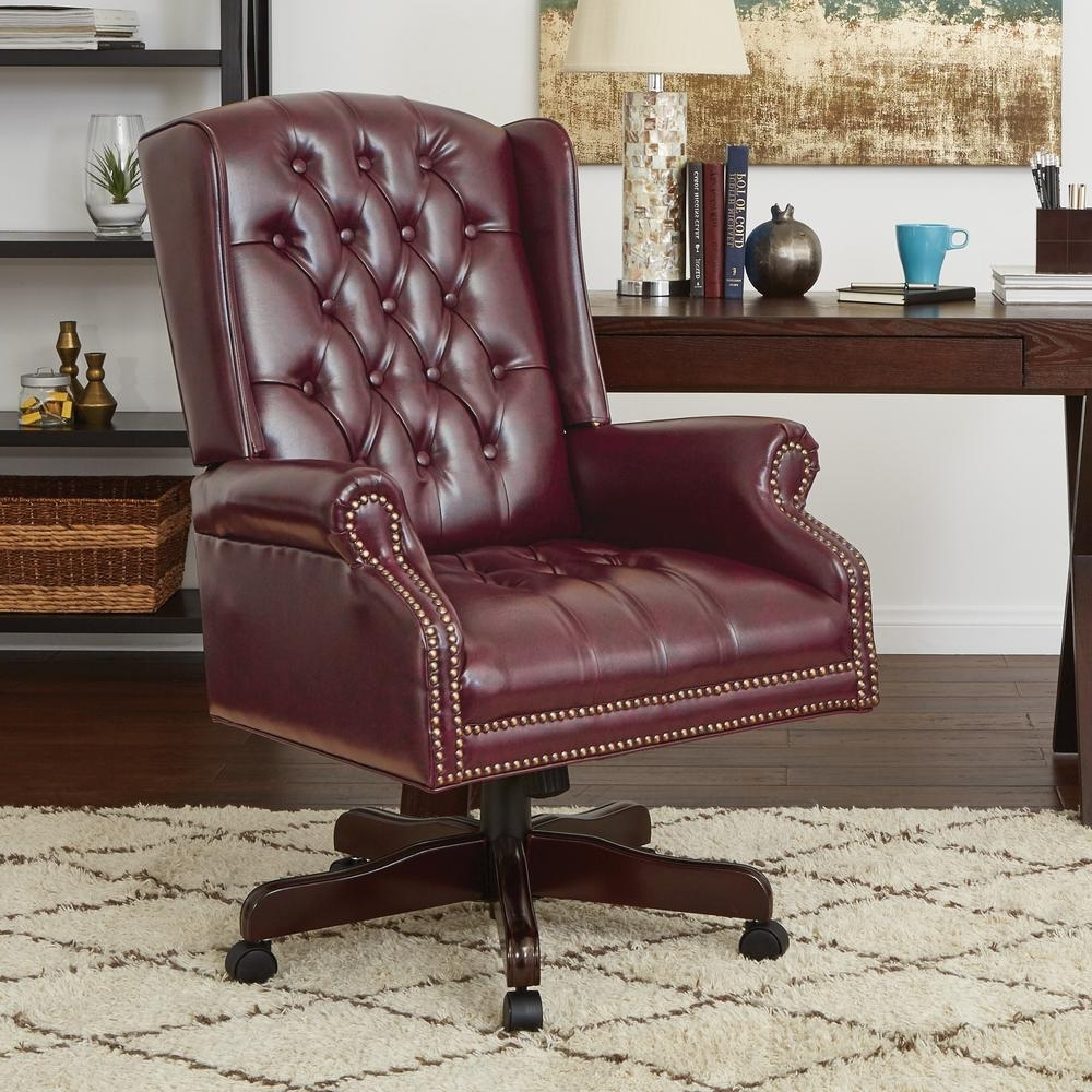 Widely Used Traditional Executive Office Chairs In Work Smart Deluxe High Back Traditional Executive Chair Tex220 Jt (View 14 of 20)
