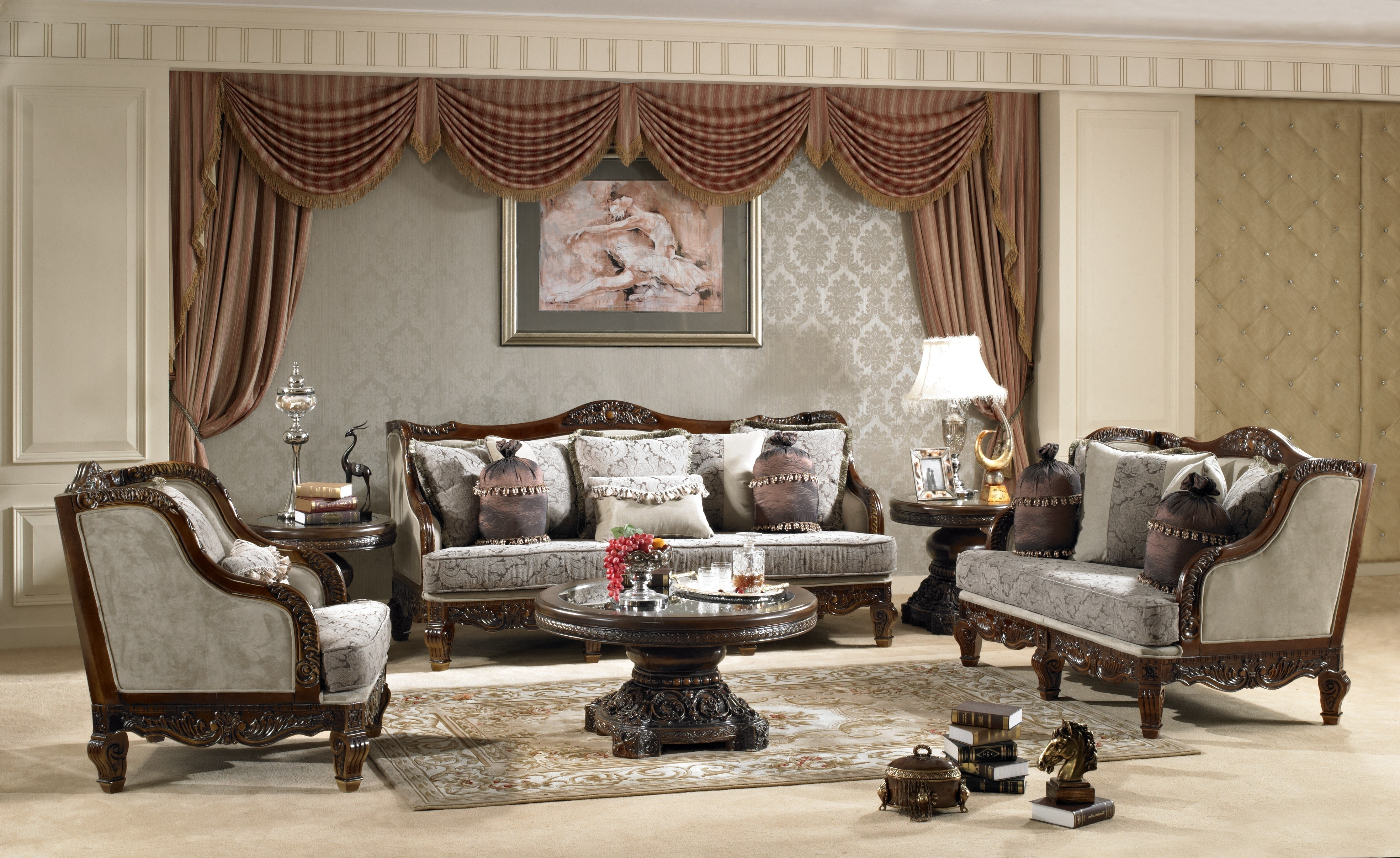 Widely Used Traditional Fabric Sofa Hd – 912 – Classic Fabric Sets – Living Inside Traditional Fabric Sofas (View 19 of 20)