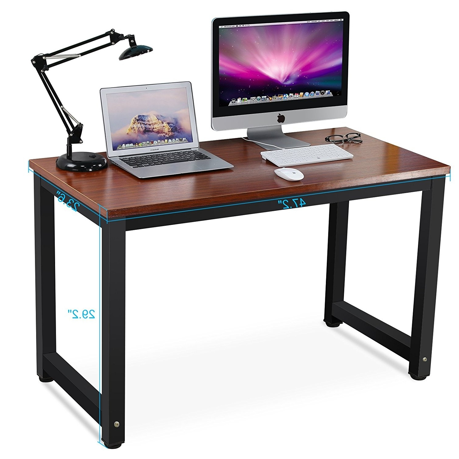Widely Used Tribesigns Modern Simple Style Computer Desk Pc Laptop Study Table For Teak Computer Desks (View 2 of 20)