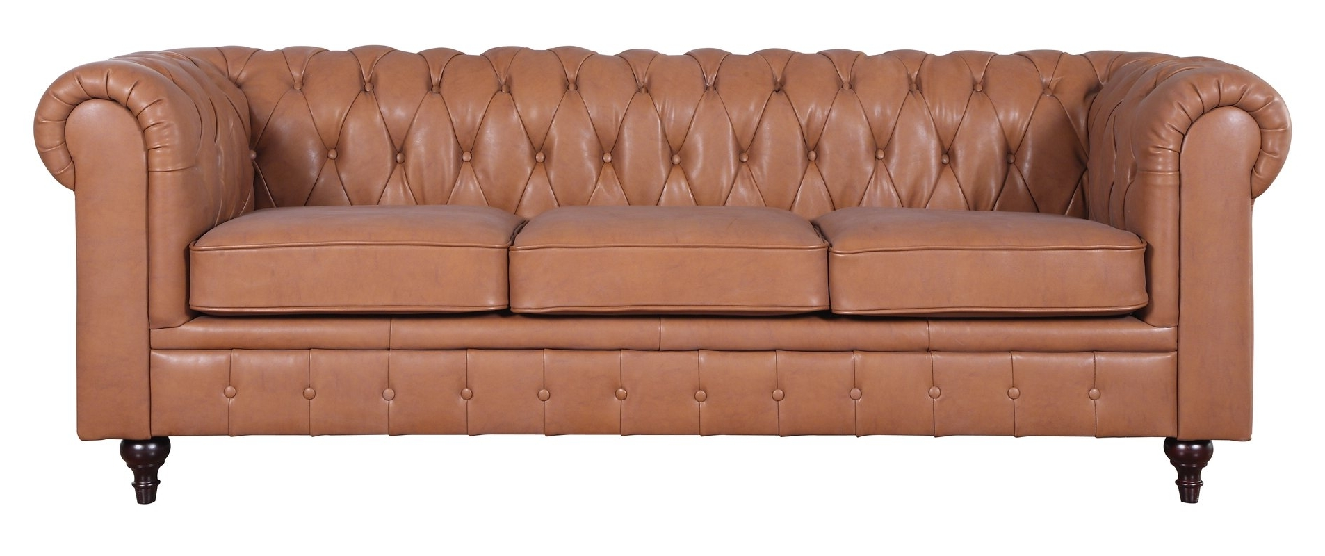 Widely Used Tufted Leather Chesterfield Sofas With Darby Home Co Kacper Tufted Leather Chesterfield Sofa & Reviews (View 9 of 20)