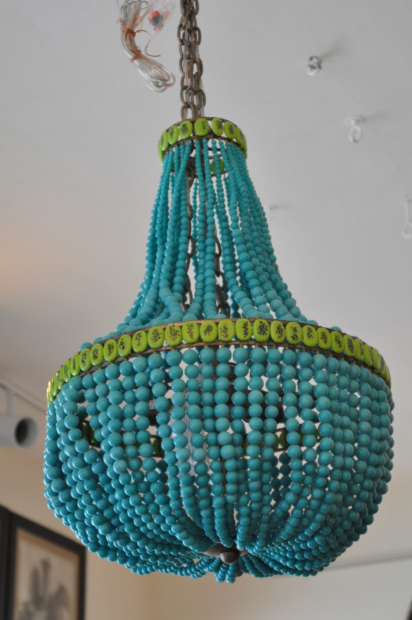 Widely Used Turquoise Empire Chandeliers Intended For Beaded Empire Style Chandelier – Mecox Gardens (View 5 of 20)