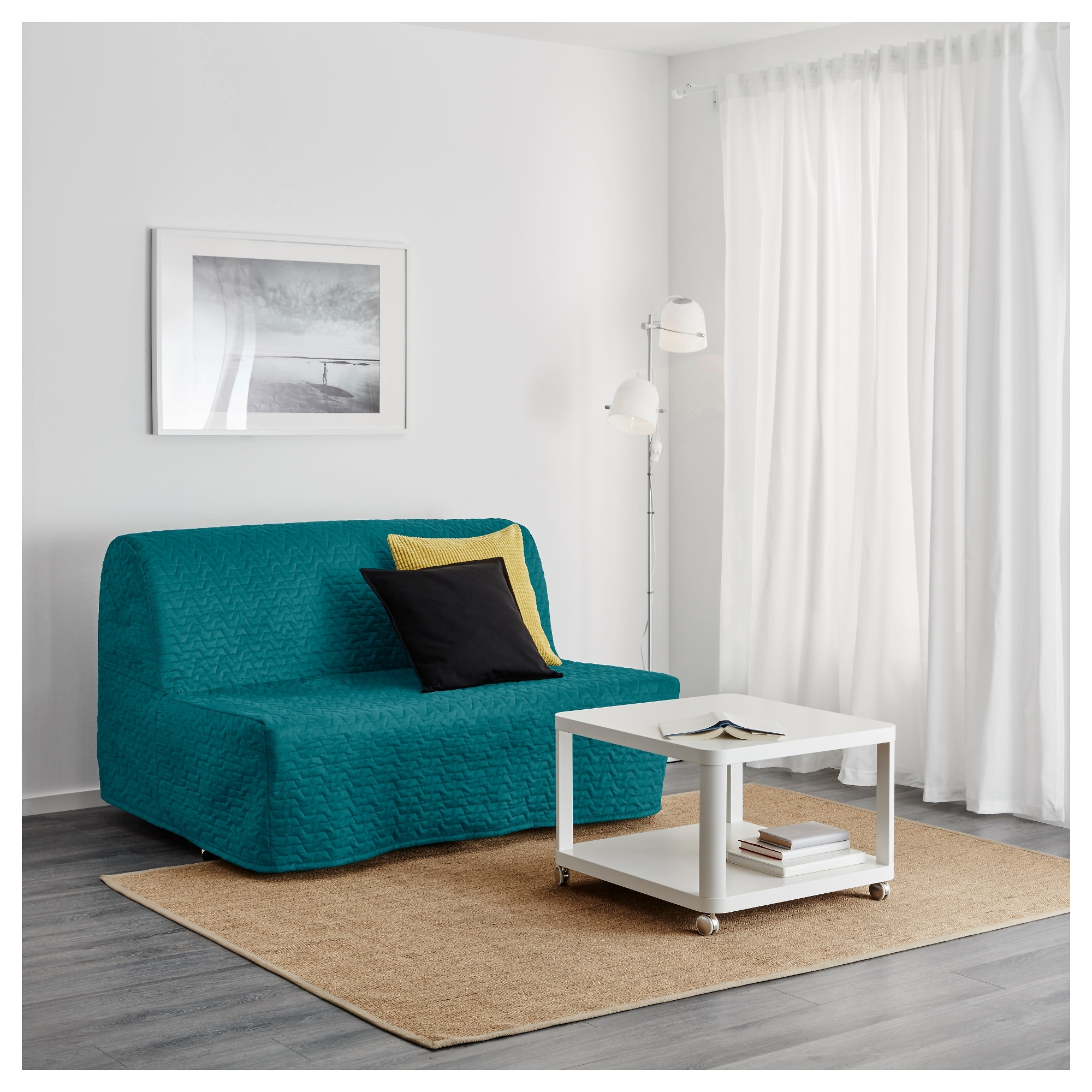 Widely Used Turquoise Sofas Within Lycksele Lövås Sleeper Sofa – Ransta White – Ikea (View 12 of 20)