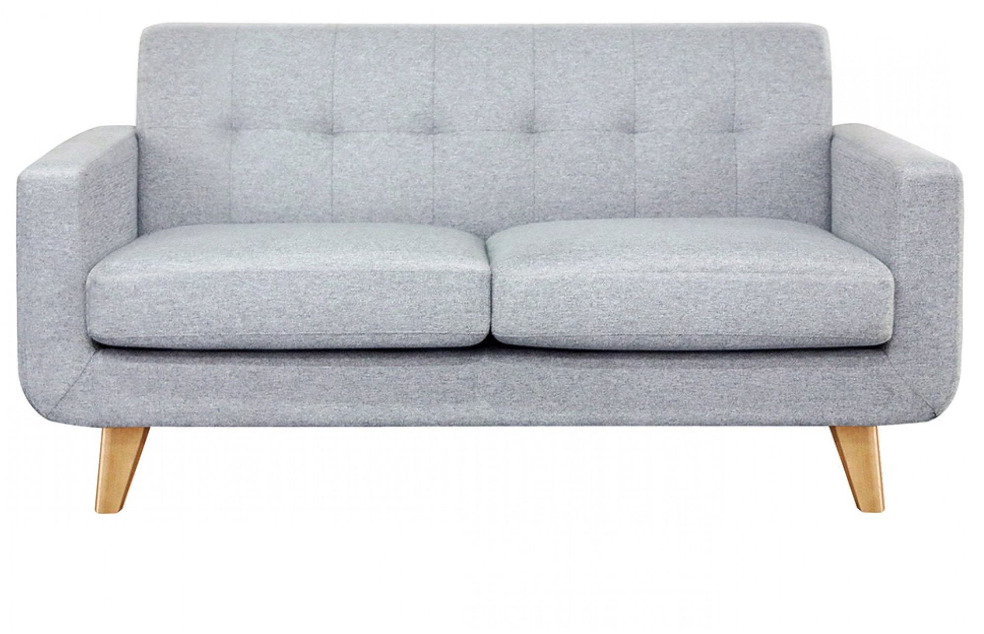 Widely Used Two Seater Sofas For Grey 2 Seater Sofa – Oak Legs Lounge Furniture – Out & Out Original (View 2 of 20)