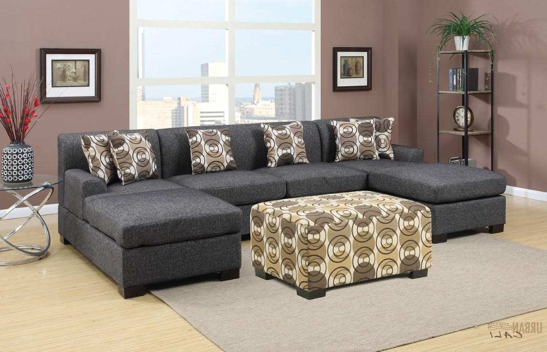 Widely Used U Shaped Sectional Sofas Intended For Furniture: Hayward Ash Black Small U Shaped Sectional Sofa Set (View 8 of 20)