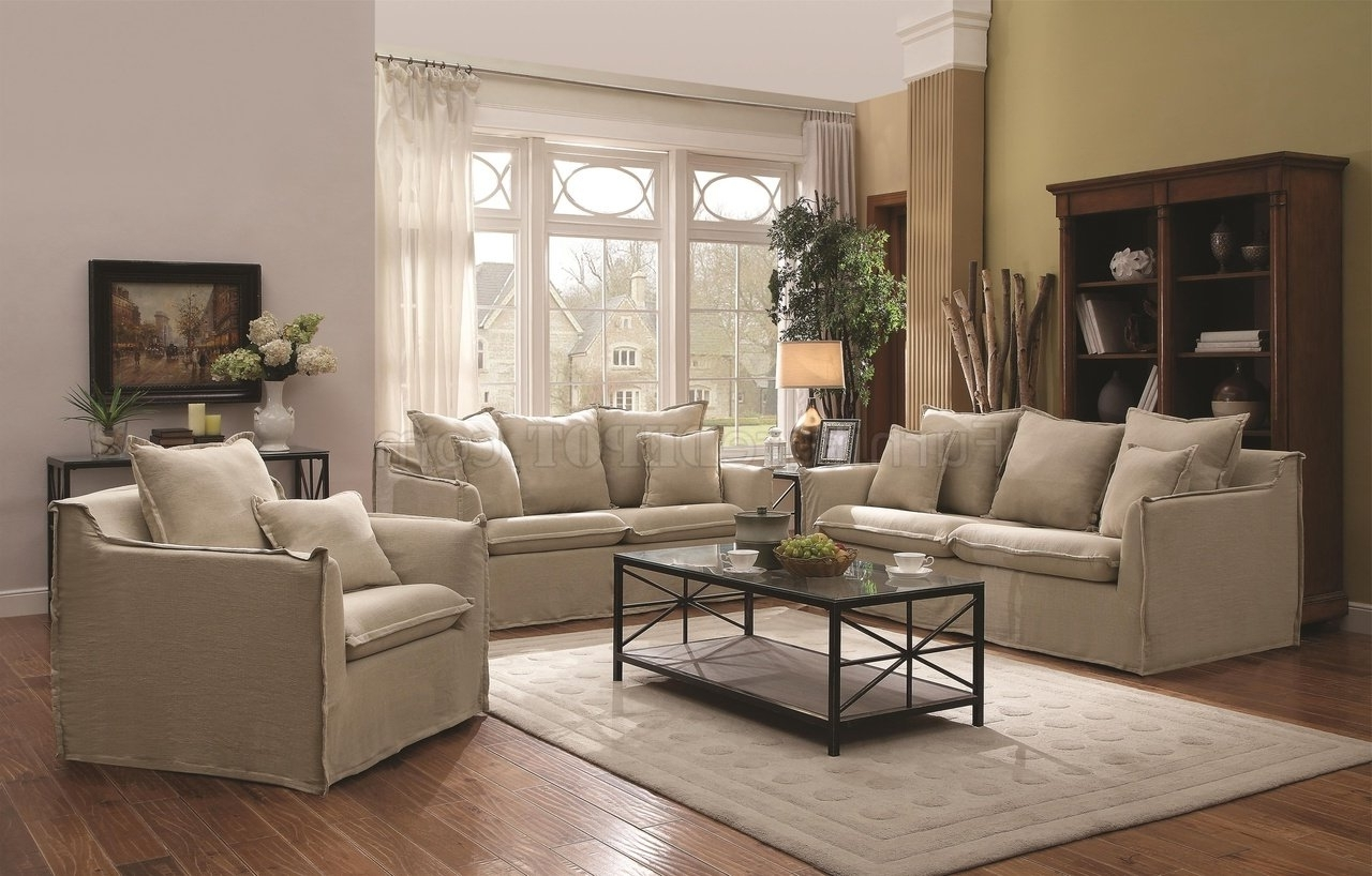 Widely Used Washable Sofas Regarding Cooney 505801 Sofa In Beige Fabriccoaster W/options (View 17 of 20)