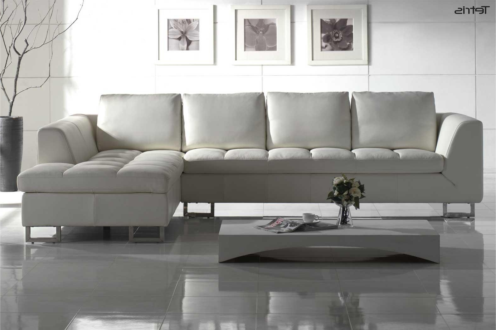 Widely Used White Leather Contemporary Sofa : Best Leather Contemporary Sofa Within White Leather Sofas (View 10 of 20)