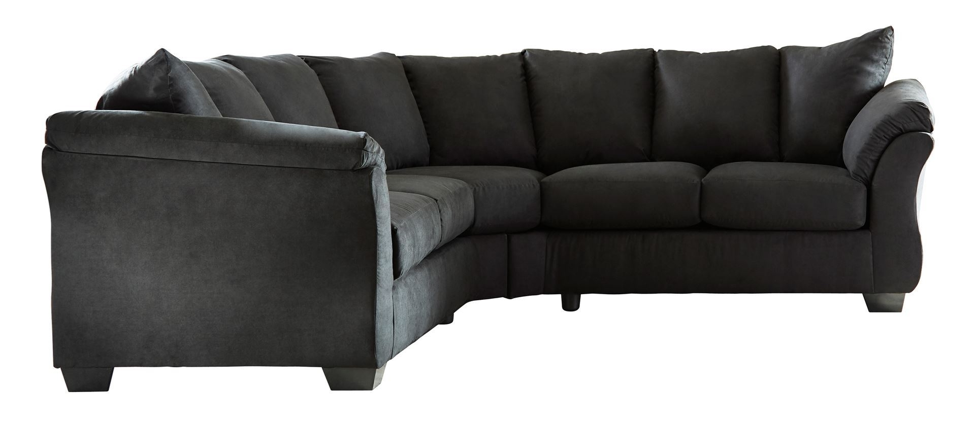 Wilmington Nc Sectional Sofas With Regard To Most Recently Released Darcy – Black Sectional (View 8 of 20)
