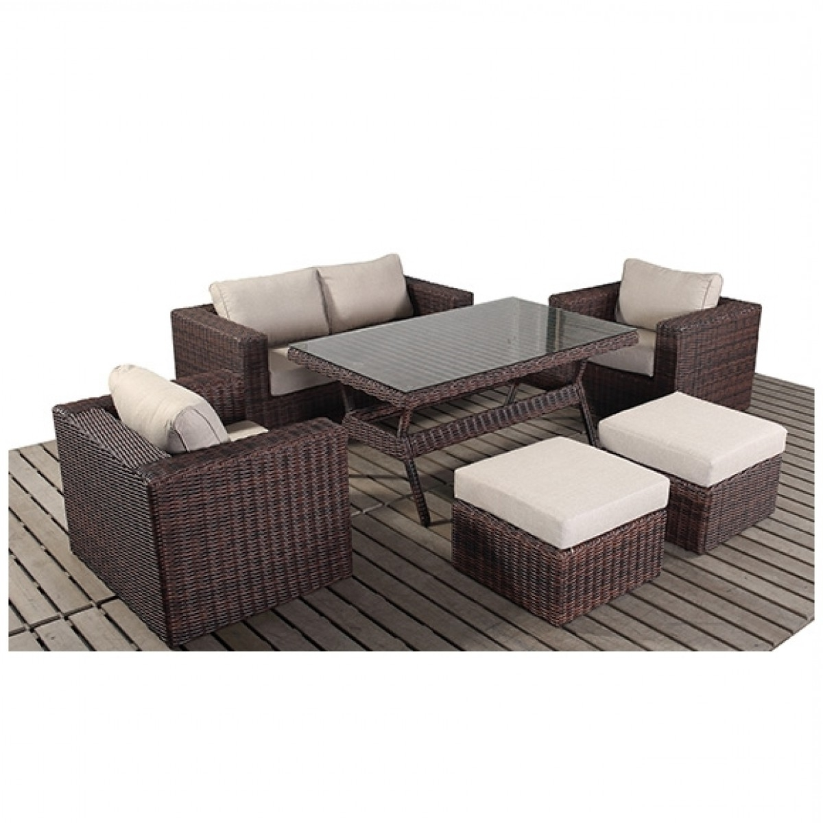 Windsor Sofas In Popular Rattan Sets – Windsor Sofa Table Set Wgf  (View 16 of 20)