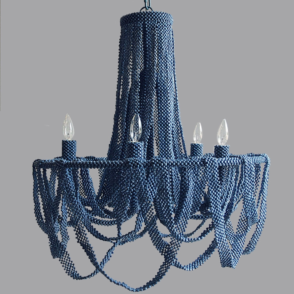 Wonderful Turquoise Beaded Chandelier Pendant Light Design Ideas With Fashionable Turquoise Beaded Chandelier Light Fixtures (View 20 of 20)