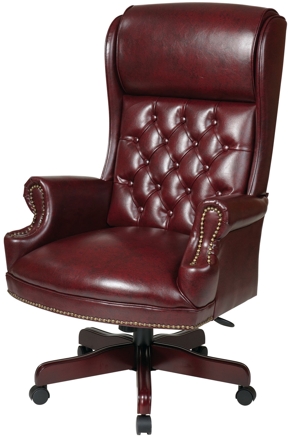 Wood And Leather Executive Office Chairs For Latest Tex228 Jt4 Office Star – Deluxe High Back Traditional Executive (View 3 of 20)