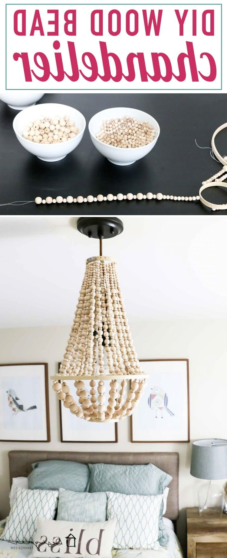Wood Bead Chandelier, Diy Inside Current Small Turquoise Beaded Chandeliers (View 20 of 20)