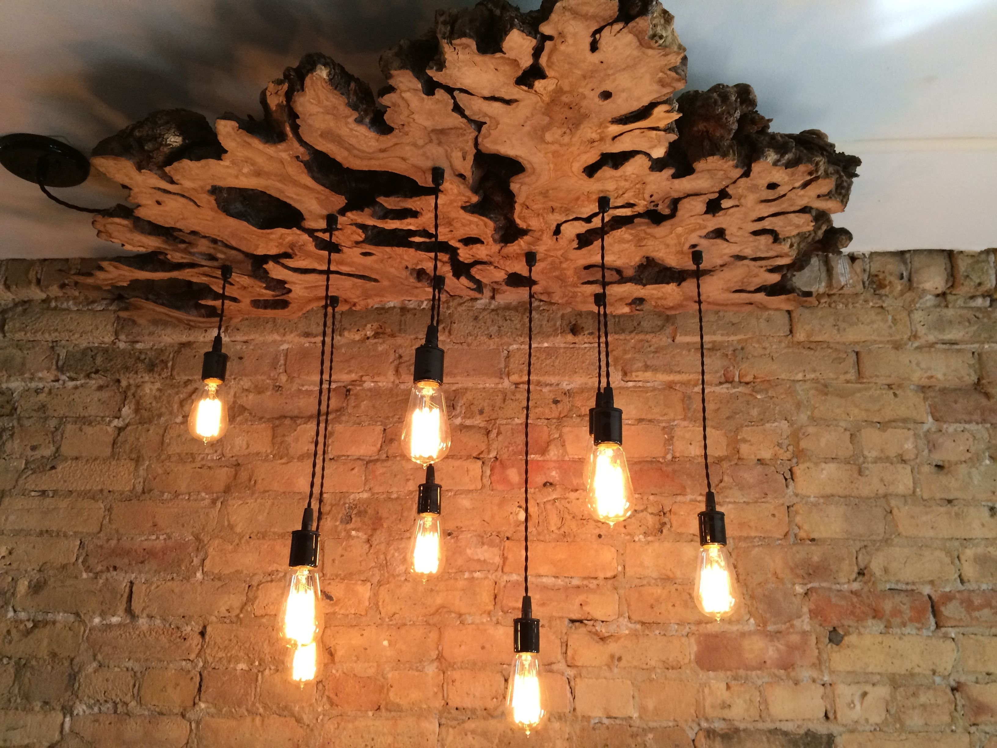 Wooden Chandeliers For Fashionable Handmade Extra Large Live Edge Olive Wood Chandelier (View 17 of 20)