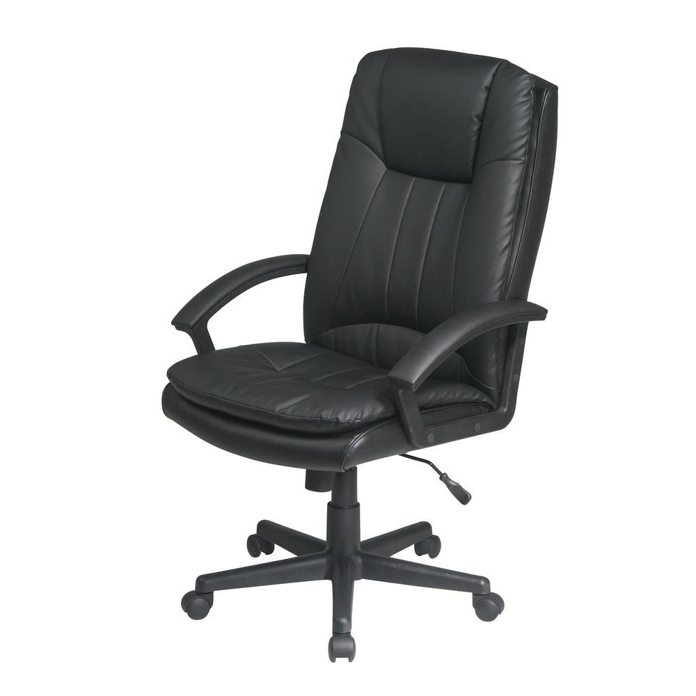 Work Smart Black Eco Leather Executive Office Chair Ec22070 Ec3 For Most Up To Date Executive Office Swivel Chairs (View 15 of 20)