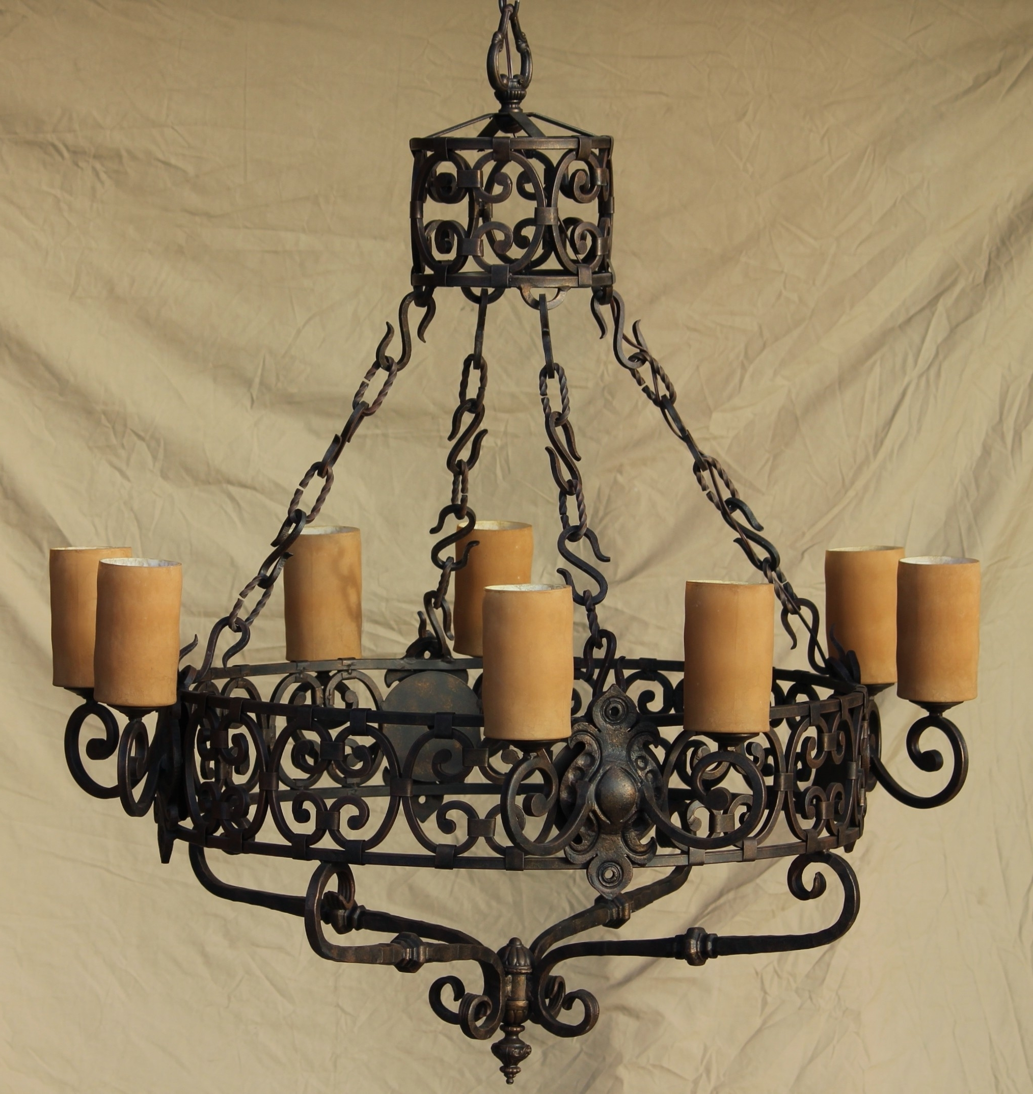 Wrought Iron Chandelier Intended For Latest Lights Of Tuscany Chandeliers – Ceiling Fixtures – Fixtures (View 13 of 20)