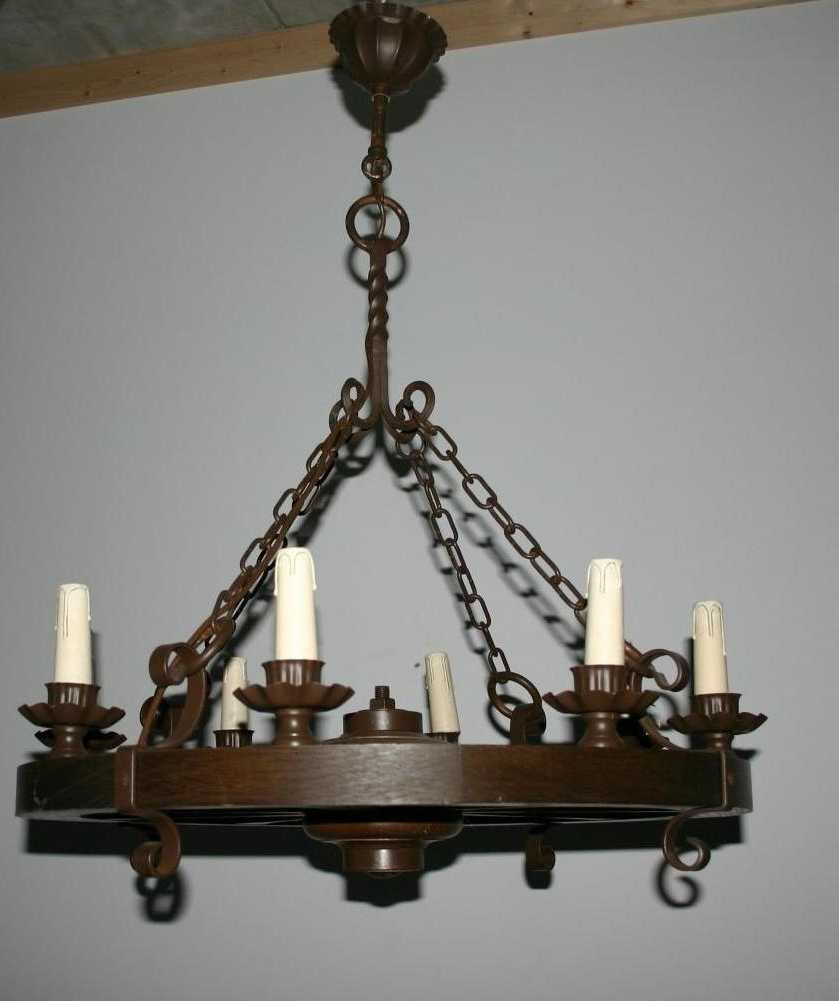 Wrought Iron Chandeliers Pertaining To 2018 Chandeliers Design : Awesome Black Wrought Iron Chandelier (View 13 of 20)