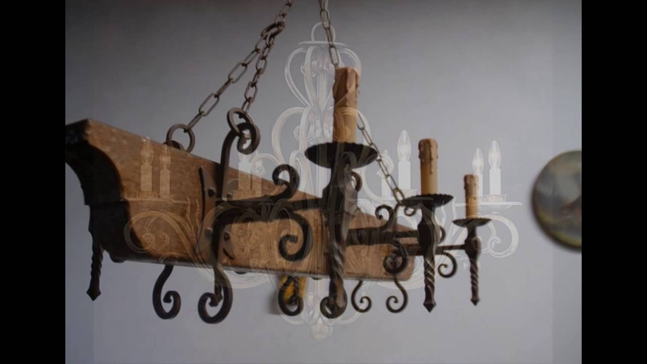 Wrought Iron Chandeliers – Youtube With Trendy Wrought Iron Chandelier (View 19 of 20)