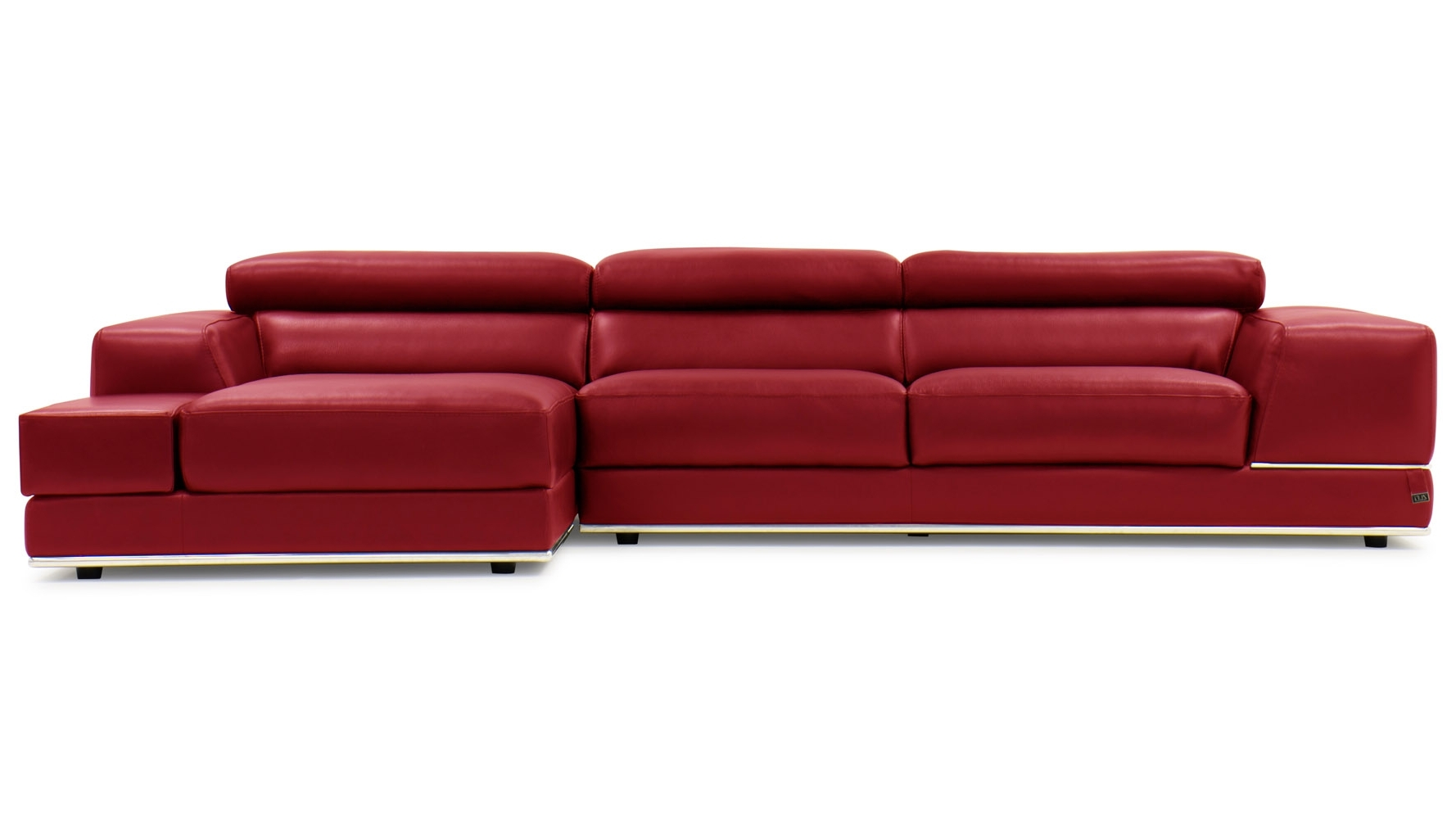Zuri Furniture Intended For Red Leather Sofas (Gallery 7 of 20)