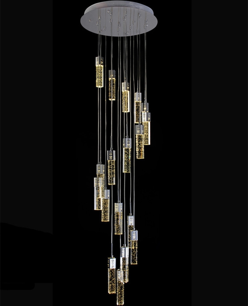 1.4 3.5M Hotel Hall Led Light Modern Stairwell Chandelier Bubble In Well Known Modern Light Chandelier (Gallery 9 of 20)