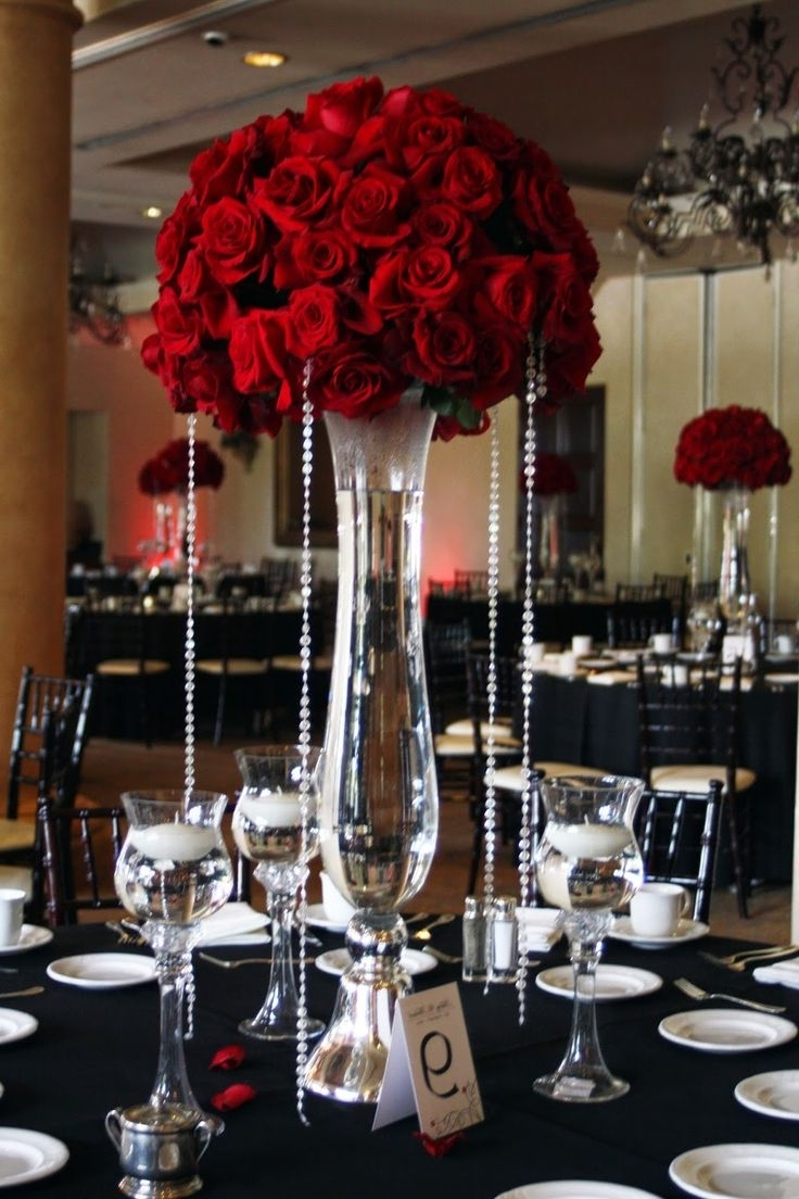 1022 Best Centerpieces – Bring On The Bling (Crystals & Diamonds In 2018 Faux Crystal Chandelier Centerpieces (Gallery 7 of 20)