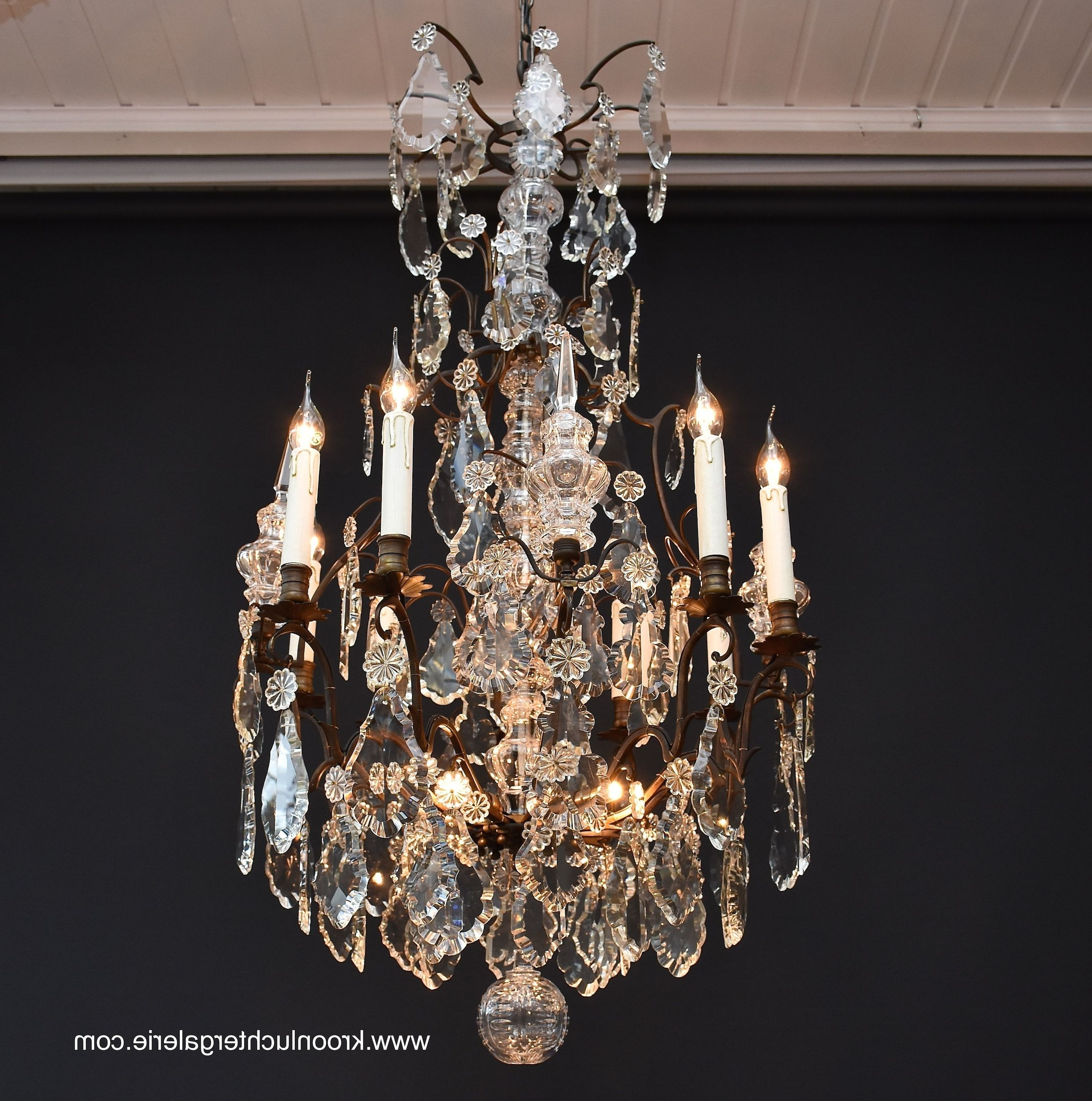 19th Century French Crystal Chandelier, Ref (View 7 of 20)