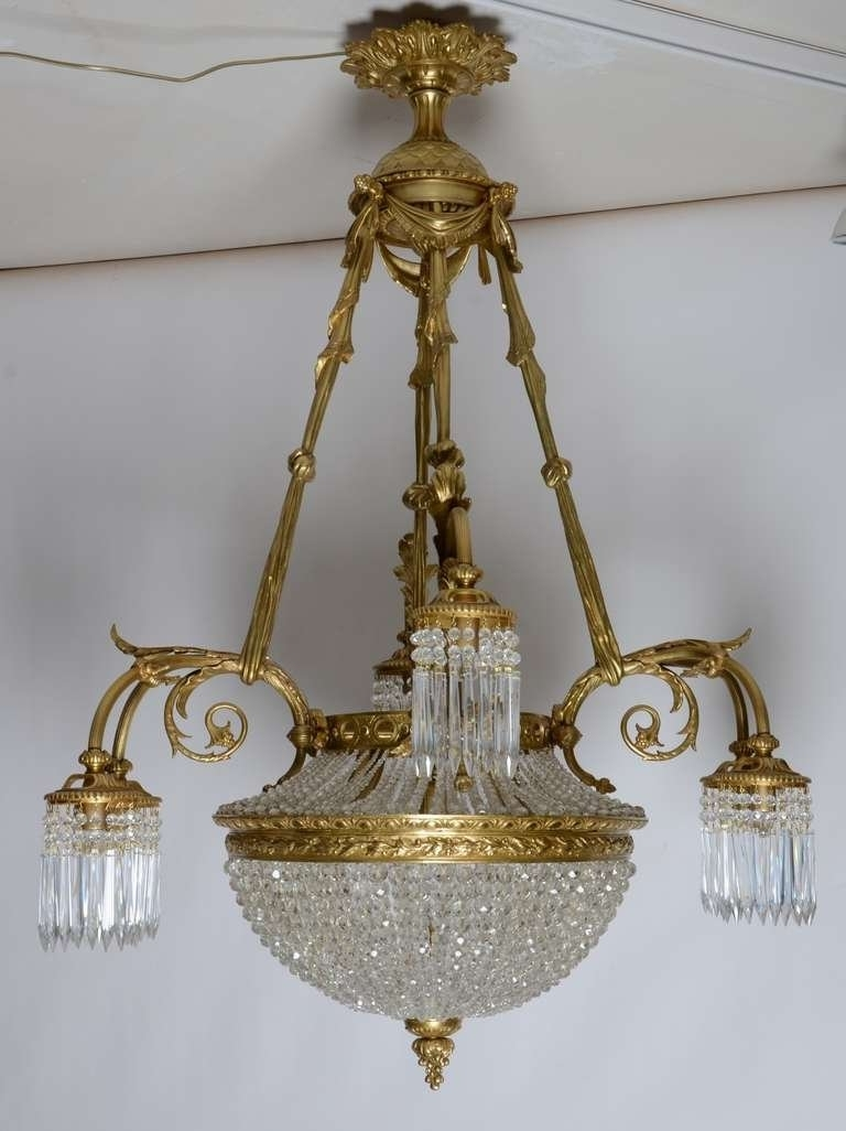 19Th Century, French Louis Xvi Antique Chandelier For Sale At 1Stdibs Intended For Popular Antique Chandeliers (Gallery 1 of 20)