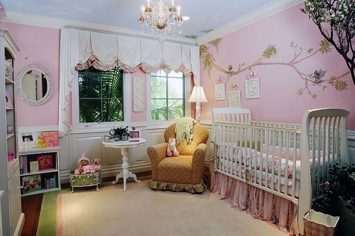 2018 Bedroom Classic Crystal Chandelier For Baby Nursery With White Crib In Crystal Chandeliers For Baby Girl Room (View 1 of 20)