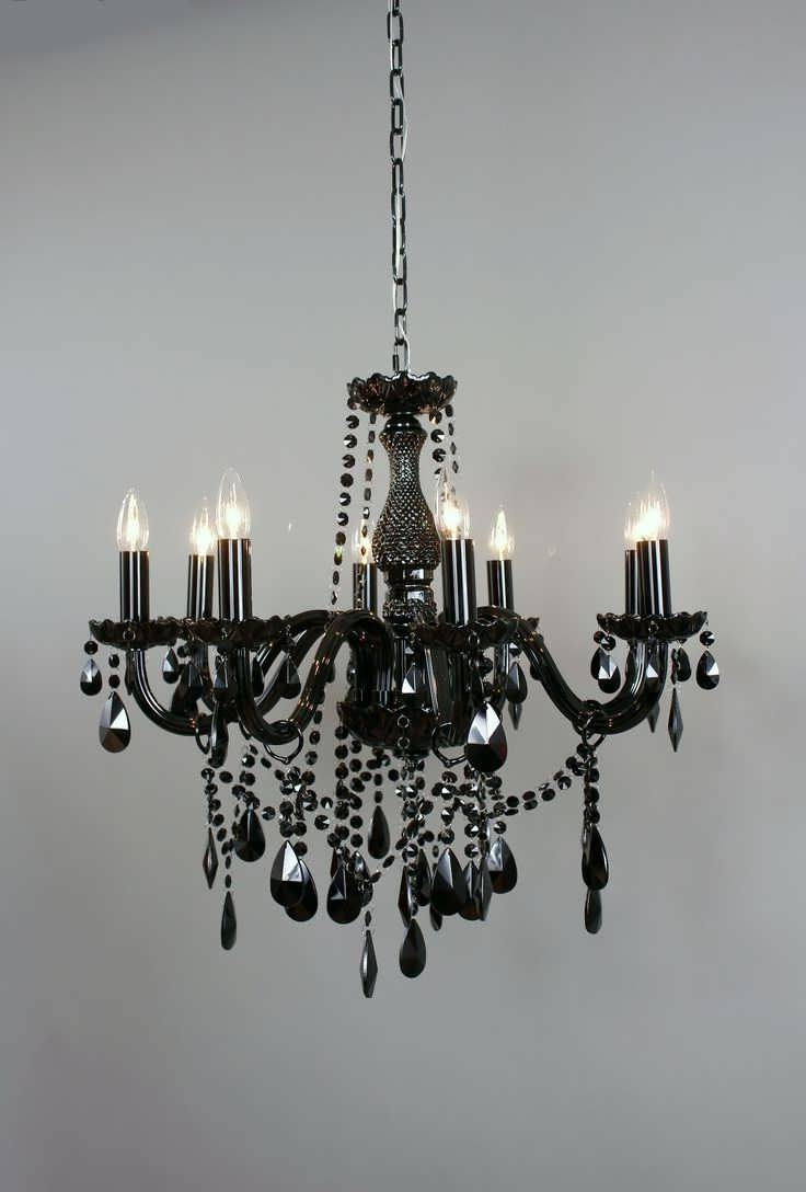 2018 Black Gothic Chandelier Pertaining To Ceiling Fans : Bubble Chandelier Ceiling Fan Brass Black Metal (View 1 of 20)