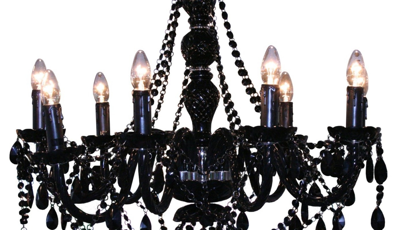 2018 Chandelier : Large Black Chandelier Earrings Long Style Oversized Pertaining To Large Black Chandelier (View 1 of 20)