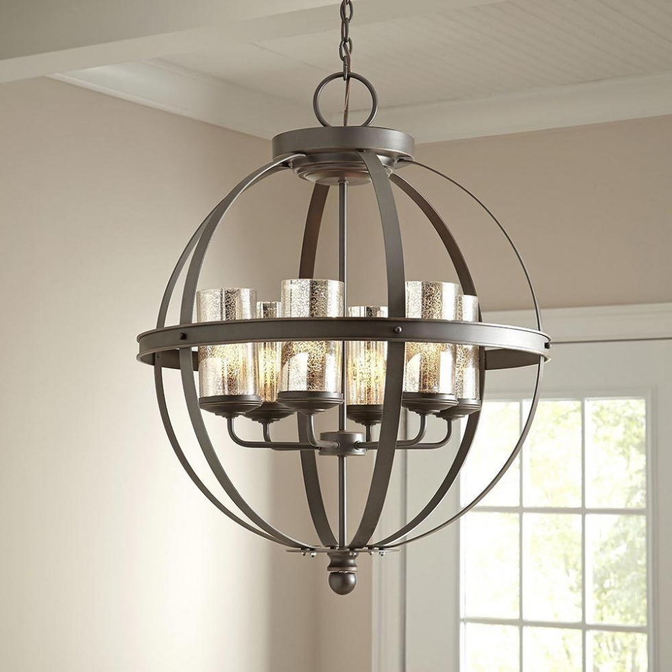 2018 Chandelier ~ Modern 6 Light Globe Chandelier Orb Pendant Lighting Regarding Chandelier Globe (View 1 of 20)