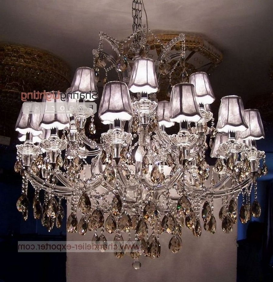 2018 Chandeliers Design : Amazing Brilliant Shade Chandelier With With Chandelier With Shades And Crystals (View 2 of 20)