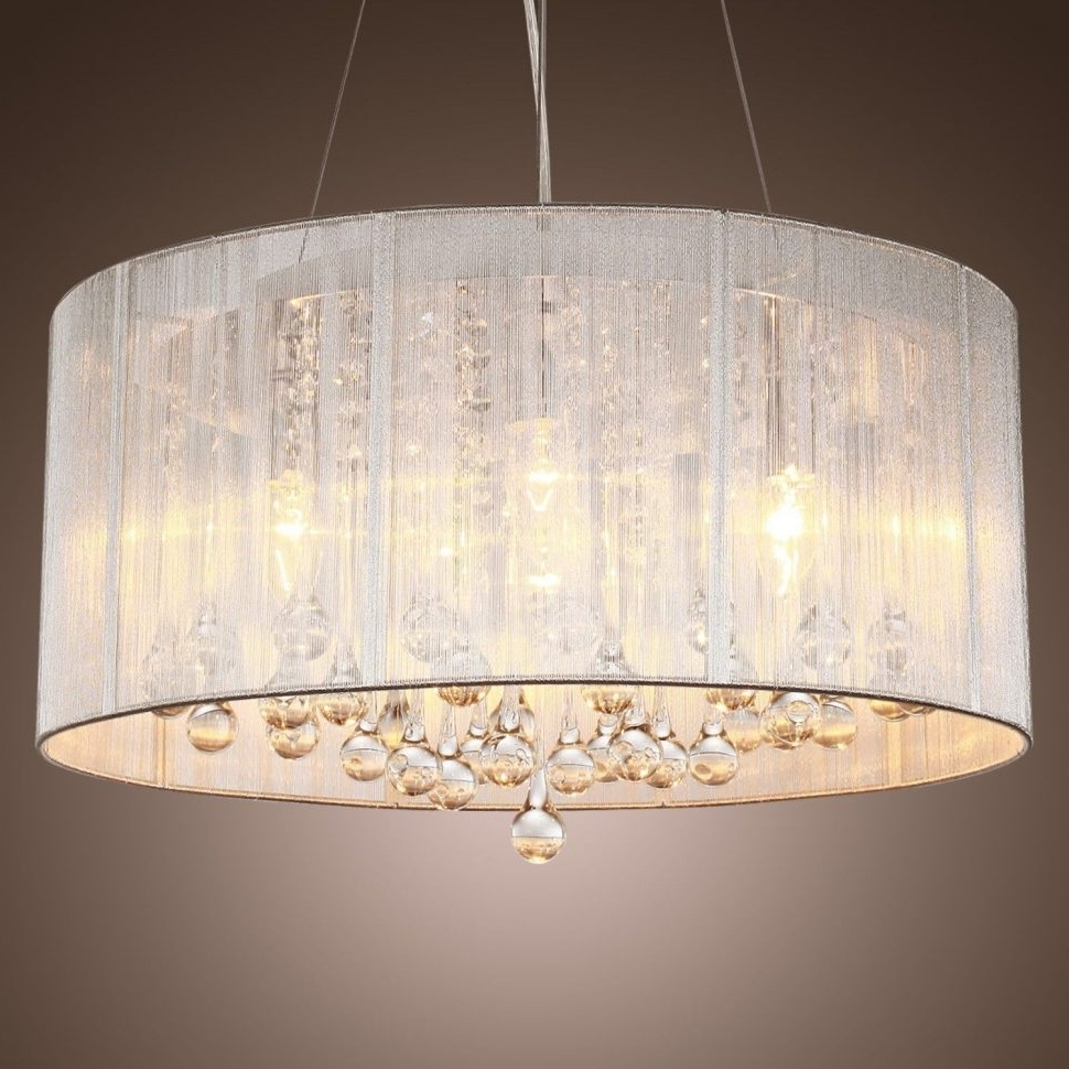2018 Chandeliers Design : Magnificent Great Innovative Drum Shade Regarding Fabric Drum Shade Chandeliers (View 16 of 20)