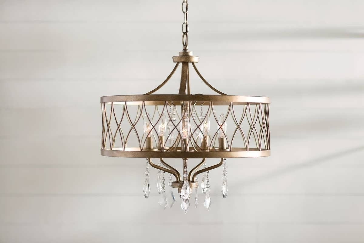 2018 Fabric Drum Shade Chandeliers Inside Chandelier : Blown Glass Chandelier Fabric Drum Shade Chandelier (View 2 of 20)