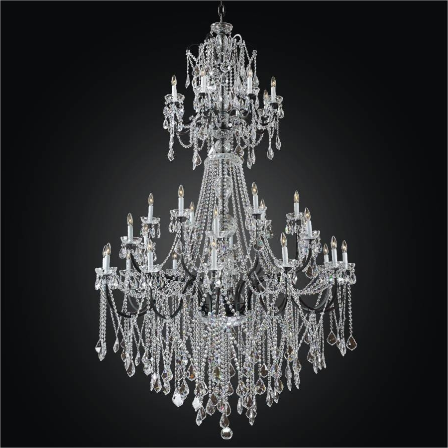 2018 Large Iron Chandelier For Large Iron Foyer Chandelier – Entryway Crystal Chandelier (View 12 of 20)
