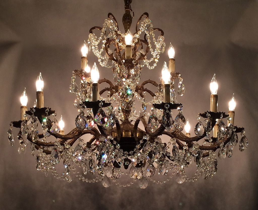 2018 Learn Trade Secrets Restoring Old Antique Brass Chandeliers Within Crystal And Brass Chandelier (View 2 of 20)