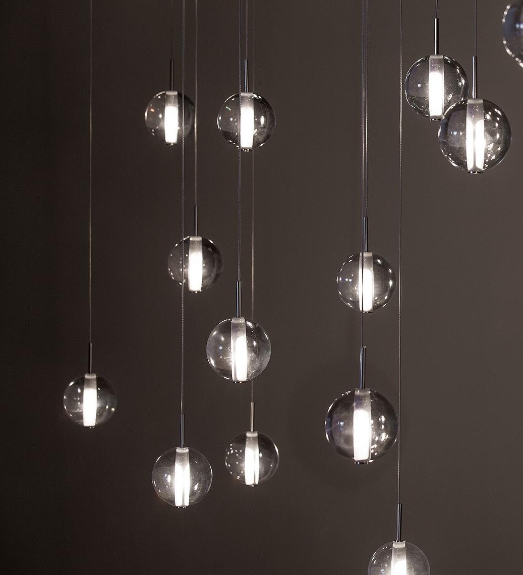 2018 Lighting : Glass Lantern Pendant Light Silver Hanging Light Modern For Modern Pendant Chandelier Lighting (View 6 of 20)